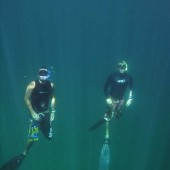 Rich and Mike, Freediving
